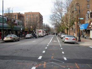 Skillman Avenue's new bike lane extension